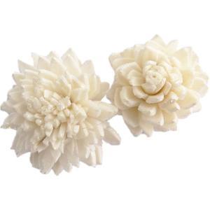 ソーラージニア ヘッド 中 白ラメ 小分け 3個入  造花 アーティシャル 花材 大地農園|solargift