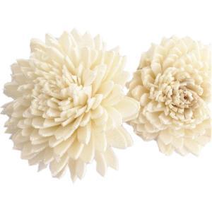 ソーラージニア ヘッド 大 白ラメ 小分け 1個入  造花 アーティシャル 花材 大地農園|solargift