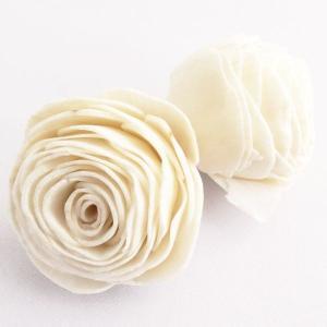 ソーラーオールドローズ 白 小分け 3個入  造花 アーティシャル 花材 大地農園|solargift