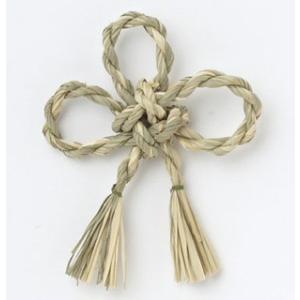 ワラ飾り 花結び ナチュラル 小分け 1個入 プリザーブドフラワー 材料 花材  大地農園|solargift