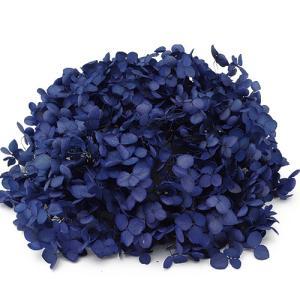 プリザーブドフラワー 材料 花材 ソフトアジサイアナベル エジプシアンブルー 箱 約2.5輪|solargift