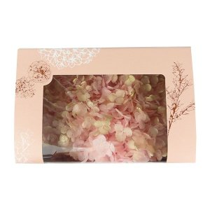 プリザーブドフラワー 材料 花材 ソフトアジサイアナベル ピンクゴールド 箱 約2.5輪|solargift