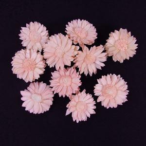 ソーラーマーガレット 小 ピンク 袋 10個入  造花 アーティシャル 花材 大地農園|solargift