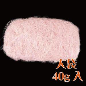 大地農園 花材 シサル 麻 ピンク 40g 自然素材|solargift
