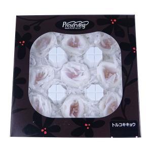 トルコキキョウ ホワイトパープル 箱 9輪入 桔梗 プリザーブドフラワー 材料 花材 大地農園|solargift