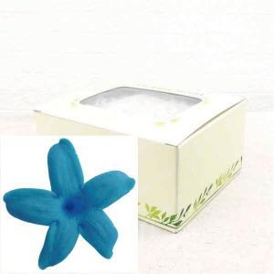 ジャスミン ブルー 箱 12輪入 プリザーブドフラワー 材料 花材 prehana world|solargift
