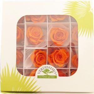 プリンセスローズ オレンジ 箱 16輪入 プリザーブドフラワー 材料 花材|solargift