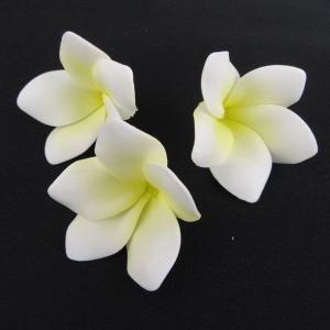 ミニプルメリア ホワイト 小分け 3個入 アーティシャル 花材 asca|solargift
