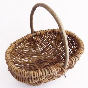 てづくり ウィローバスケット プリザーブドフラワー 花器 かご os001|solargift