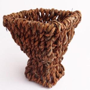 てづくり フリーバスケット ブラウン プリザーブドフラワー 花器 かご te010|solargift