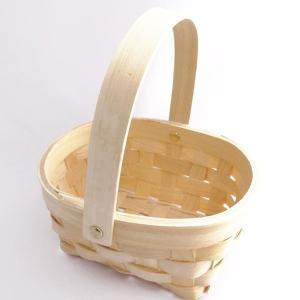 てづくり ウッドチップバスケット 丸 プリザーブドフラワー 花器 かご te038|solargift