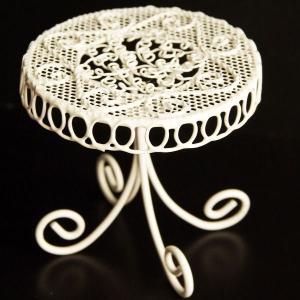 創元舎 ワイヤー 円テーブル 花器 かご w008|solargift