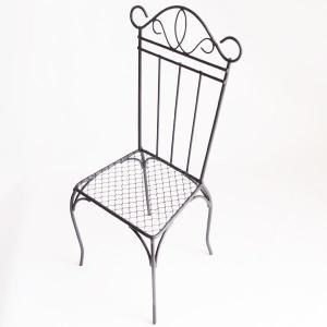 創元舎 アイアン チェアー ブラック Sサイズ 花器 かご w036|solargift