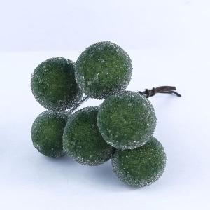 シュガーベリー 20mm グリーン 小分け 6本入 プリザーブドフラワー 花材|solargift