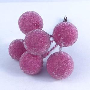 シュガーベリー 20mm ピンク 小分け 6本入 プリザーブドフラワー 材料 ピック|solargift