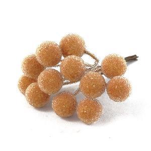 シュガーベリー 12mm オレンジ 小分け 12本入 プリザーブドフラワー 材料 ピック|solargift