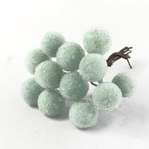 シュガーベリー 12mm アイスブルー 小分け 12本入 プリザーブドフラワー 材料 ピック|solargift