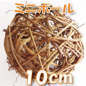 サンキライ ミニボール 10cm ナチュラル 小分け 1個入 デコ 73594|solargift