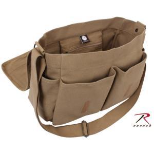 丈夫なキャンバス生地で作られたROTHCO(ロスコ)のメッセンジャーバッグです。 海外人気ドラマ「2...
