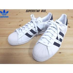 adidas SUPERSTAR 80S ホワイト/ネイビー(EE8778)アディダス オリジナルス スーパースター 80s 定番メンズスニーカー|solehunter