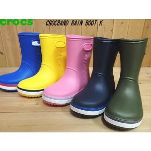 crocs CROCBAND RAIN BOOT K クロックス クロックバンド レインブーツ キッズ BRIGHT COBALT(4KD)・YELLOW(734)・PINK(6QM)・NAVY(4KB)・GREEN(3TF)205827-|solehunter