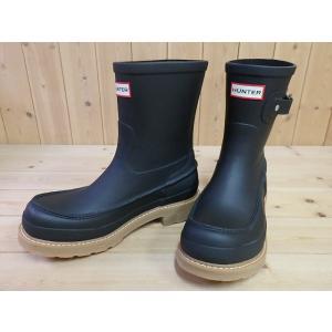 HUNTER MENS ORIGINAL LTWEIGHT MOCK-TOE SHORT ハンター メンズ オリジナル モックトゥ ショート ブーツ BLACK・MFS9001RMA メンズ レイン ラバーブーツ|solehunter