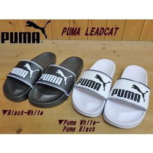 PUMA LEADCAT プーマ リードキャットBlack(360263-01)・Puma White(360263-08)レディース メンズ シャワーサンダル(23cm-29cm)|solehunter