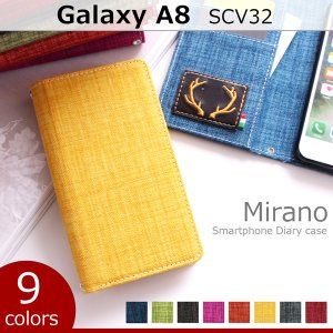 SCV32 GALAXY A8 ミラノ 手帳型ケース ギャラクシーA8 galaxya8 scv32 ケース カバー スマホケース 手帳型 手帳型カバー 手帳ケース 携帯ケース|soleilshop
