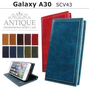 Galaxy A30 SCV43 ケース カバー scv43ケース galaxya30 ギャラクシーA30 スマホ アンティーク 手帳型ケース スマホケース 手帳型 携帯ケース|soleilshop