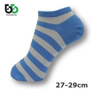 ブリーズブロンズ スニーカーソックス27-29cm 防臭消臭 靴下 スカイブルー BreezeBronze|solemo
