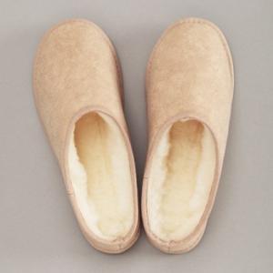 メリノン 羊毛スリッパXL ベージュ 防寒 室内履き ウール 丸洗い可能 Merinon|solemo
