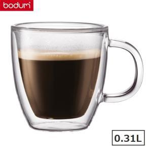 bodumボダム ビストロD.Wマグカップ0.31L 2個セット BISTRO 温冷兼用 二重構造 耐熱ガラス|solemo