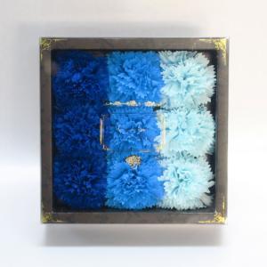 Q-FLA カーネーションフレグランス9輪入り ブルー キューフラ 入浴剤 お花ギフトボックス 母の日 ラッピング対応|solemo