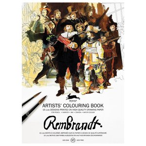 大人のぬりえ カラーリングブック Rembrandtレンブラント PEPIN(ぺピン)|solemo