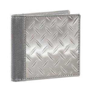 スチュワートスタンド 2つ折り財布 ステンレススチール素材 Diamond Plate STEWART STAND 父の日 solemo