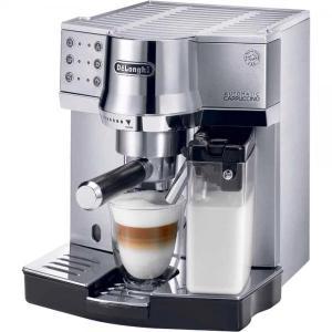 デロンギ エスプレッソ・カプチーノメーカー オートマティックカプチーノ コーヒーメーカー シルバーxブラック De'Longhi EC860M|solemo