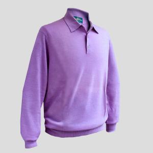シャツ ポロシャツ メンズ カジュアル ブランド アランペイン ALAN PAINE カシミヤ パープル イギリス|solfiglio