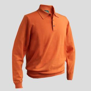 シャツ ポロシャツ メンズ カジュアル ブランド アランペイン ALAN PAINE ウール オレンジ イギリス|solfiglio