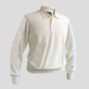 ポロシャツ ニット ニットポロシャツ メンズ カジュアル ブランド アランペイン ALAN PAINE カシミヤ アイボリー イギリス|solfiglio