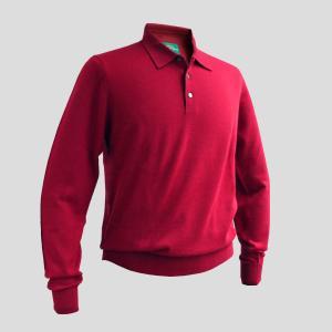 ポロシャツ ニット ニットポロシャツ メンズ カジュアル ブランド アランペイン ALAN PAINE カシミヤ レッド イギリス|solfiglio