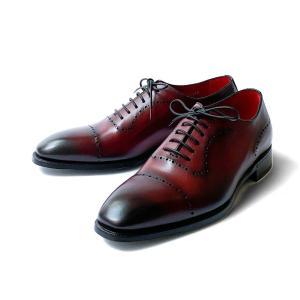 シューズ メンズ ドレスシューズ レースアップ ビジネス ブランド イタリア BARRETT バレット ワインレッド内羽根 革底 紳士靴|solfiglio