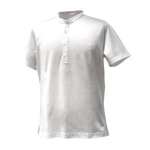 Tシャツ メンズ ブランド BILANCIONI スタンドカラー コットン ホワイト 大きいサイズ|solfiglio
