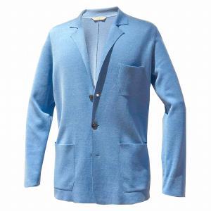 ジャケット メンズ カジュアル ブランド ニットジャケット シルク コットン BILANCIONI|solfiglio