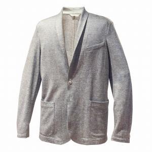 ジャケット メンズ カジュアル ブランド サマージャケット グレージュ リネン コットン BILANCIONI ビランチオーニ|solfiglio