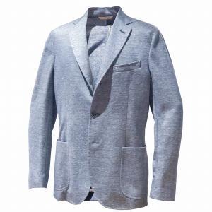 ジャケット メンズ カジュアル ブランド サマージャケット ブルー リネン コットン BILANCIONI ビランチオーニ|solfiglio