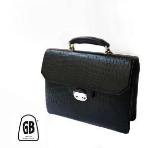 ブリーフケース ビジネスバッグ 書類鞄 メンズ ビジネス ブランド BORRI ボッリ クロコダイル 本革 エキゾチックレザー