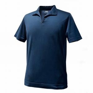 ポロシャツ メンズ カジュアル ブランド フェデーリ フェデッリ FEDELI GIZA ネイビー イタリアンカラーポロシャツ|solfiglio