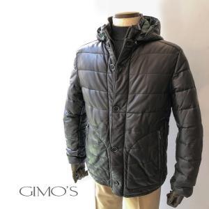 レザージャケット ジモス GIMO'S フード付き ラムナッパ メンズ|solfiglio
