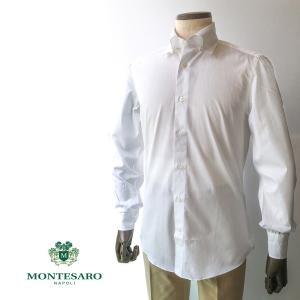 ドレスシャツ シャツ コットン ホワイトシャツ 白シャツ 180番手 タブカラー 白蝶貝ボタン メンズ ナポリシャツ|solfiglio