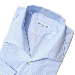 シャツ メンズ 長袖 カジュアル ストライプ ブランド MONTESARO モンテサーロ ナポリ 綿 solfiglio